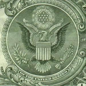 Орел на долларе США