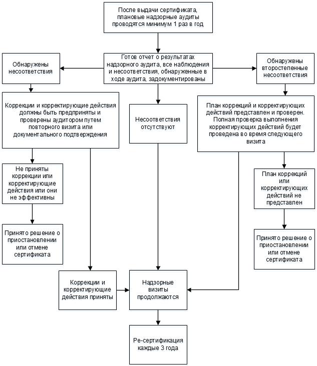 Процесс проведения надзорного