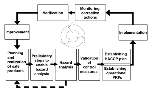 The model of a process-based food safety management system
