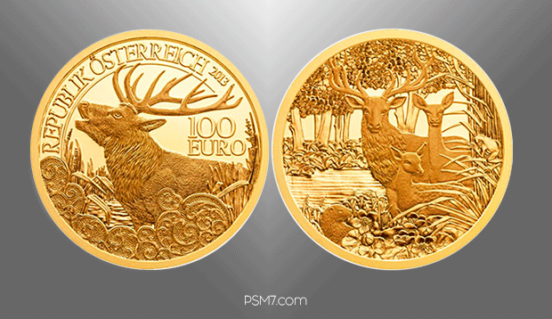 austrian-mint-2013-wildlife-in-our-sights-red-deer-100-euro-gold-coin